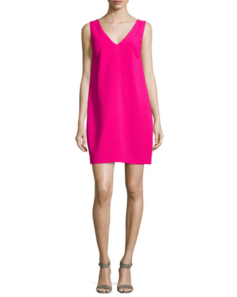 Azure V-Neck A-line Dress