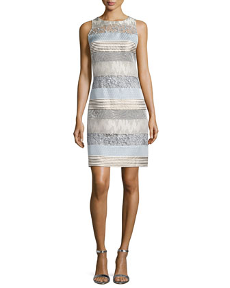 Reo Striped Ombre Sheath Dress