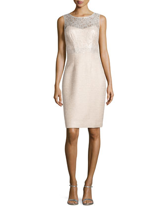 Lace Top Sheath Dress