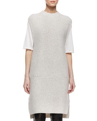 Directional Rib Wool-Blend Dress
