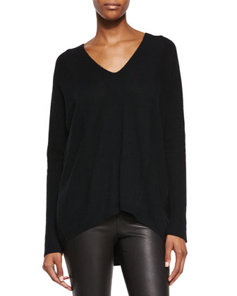 Directional Rib Cashmere Sweater