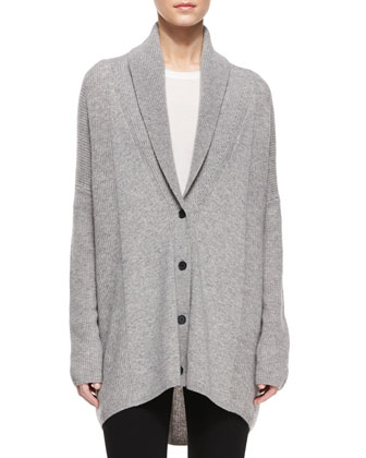 Directional Rib Wool-Blend Cardigan