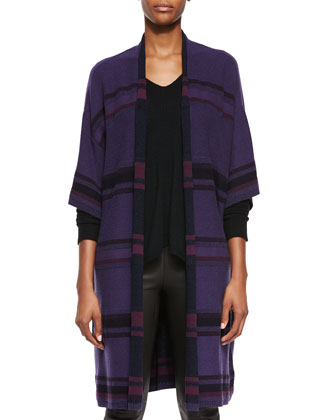 Textured Stripe Wool-Blend Cardigan, Directional Rib Cashmere Sweater & ...
