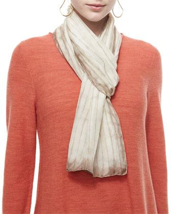 Cozy Luxe Wool Poncho Cardigan, Crepe de Chine Blouse, Silk Shibori ...