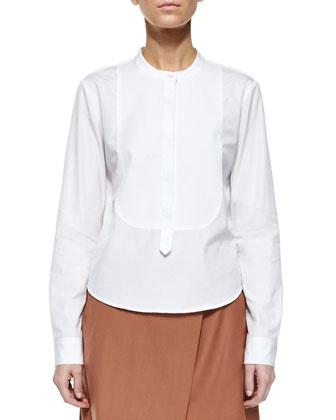 Karessa Tuxedo Bib Top & Kirti Classy Wool Skirt