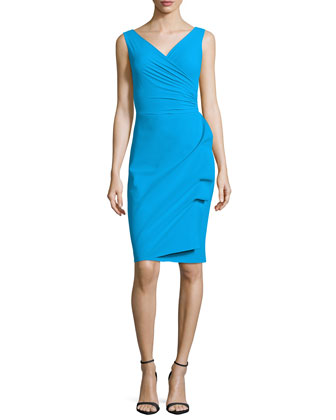 Elaine Sleeveless Wrap Sheath Dress