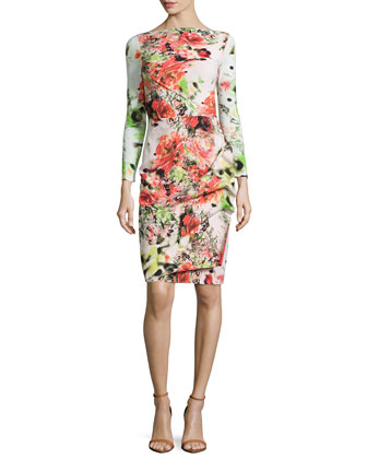 Cassandre Floral-Print Ruffle-Skirt Dress