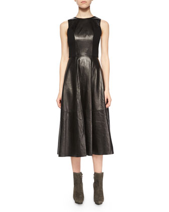 Jenn Leather/Knit Dress