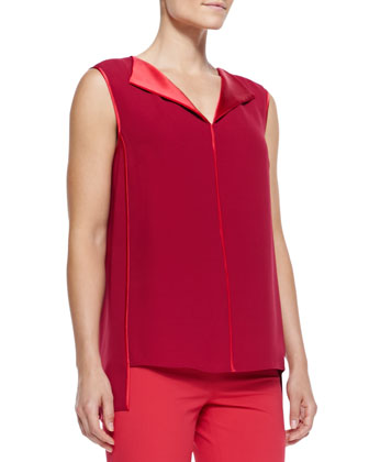 Fierra Sleeveless Silk Blouse