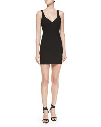 Nema Ponte Sheath Dress, Black