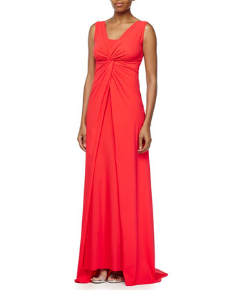 Opera V-Neck Knotted Gown