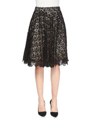 Earla Pleated Lace Skirt