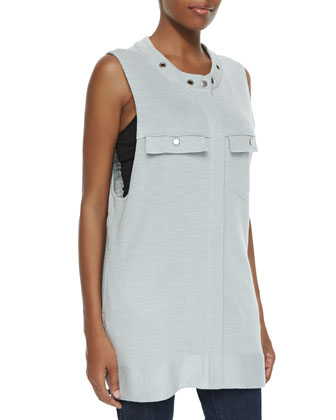 Highway Slub Knit Vest, Light Gray
