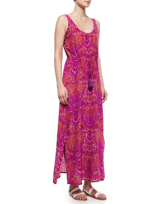 Willow Batik-Print Silk Maxi Dress