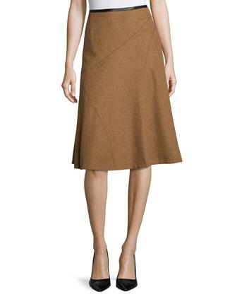 Nara A-Line Skirt, Coconut Melange