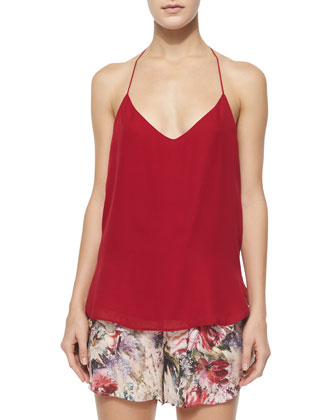 T-Strap Back Cami, Red Rose