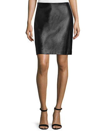Combo Pencil Skirt, Black