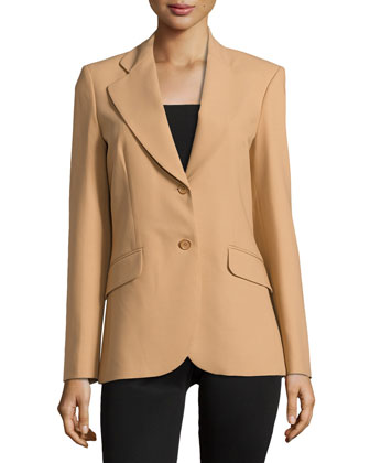 Double-Button Jacket, Suntan