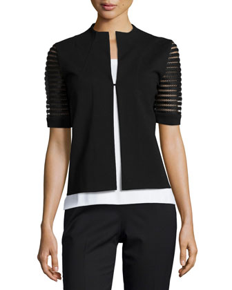 Punto Milano Lattice-Sleeve Jacket