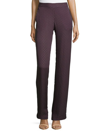 Dantrell Short-Sleeve Silk Top & Mitrana Perennial Printed Silk Pants