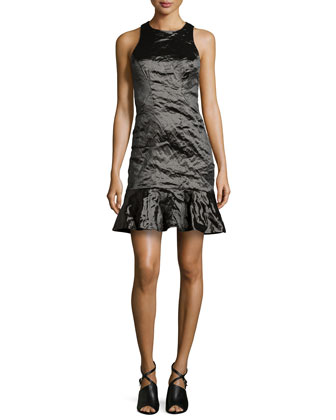 Techno Metal Dress, Black