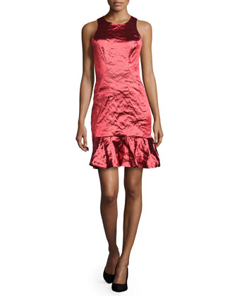 Techno Metal Dress, Ruby