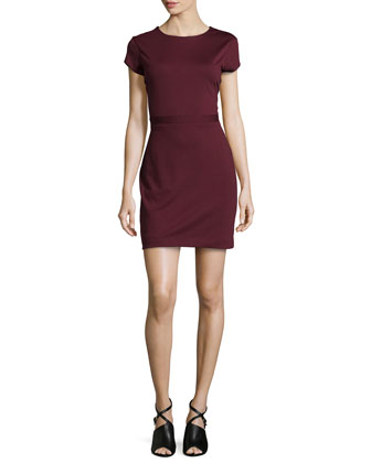 Rani Stretch Ponte Dress, Burgundy