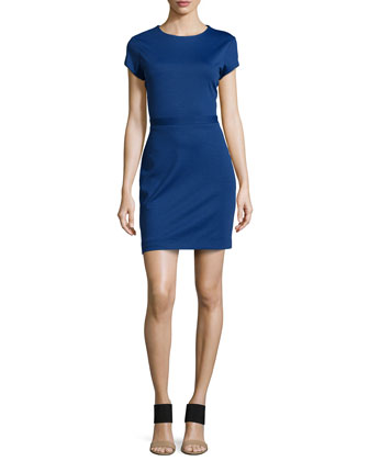 Rani Stretch Ponte Dress, Royal