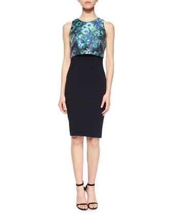 Sleeveless Pop-Top Cocktail Dress