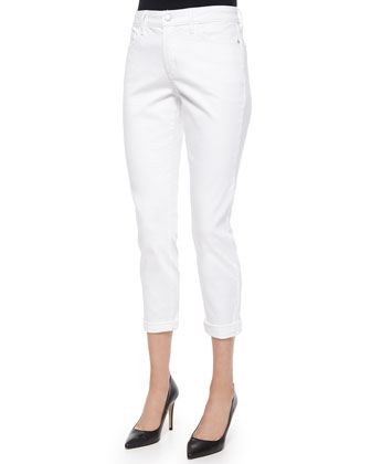 Nichelle Ankle Cuffed Jeans, White