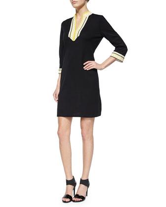 3/4-Sleeve Caftan Dress