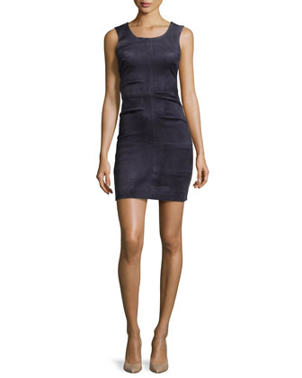Lauren Sleeveless Mini Dress, Navy