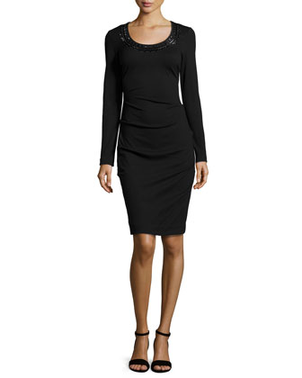 Candace Ponte Dress, Black