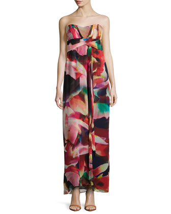 Petal Power Georgette Gown, Multi