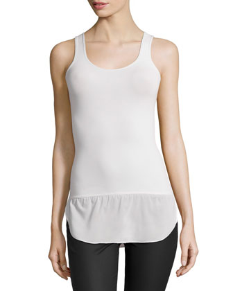 Hottail Sleeveless Tubular Top, Ivory