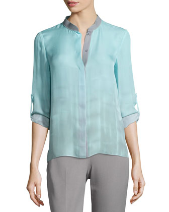 Dylan Tabbed-Sleeve Blouse & Marcia Straight-Leg Pants