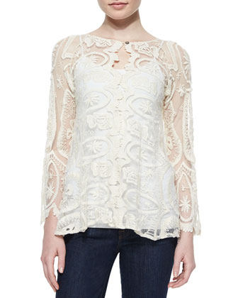 Juliette Lace Top, Natural