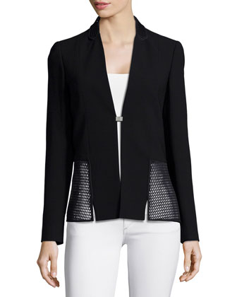 Marguerite Jacket W/ Mesh & Marcia Straight-Leg Pants