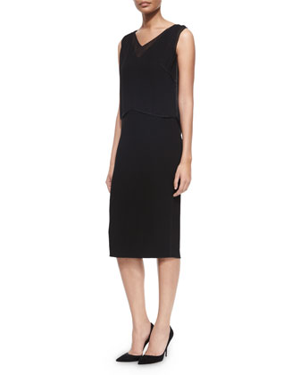 Danni Sleeveless Dress W/ Popover