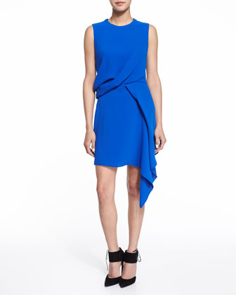 Sleeveless Handkerchief Draped Dress