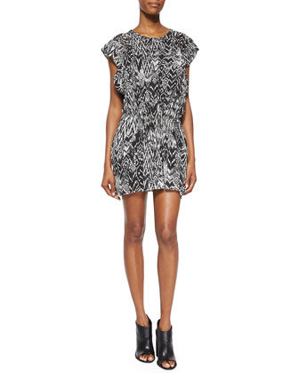 Cantela Ikat-Print Dress