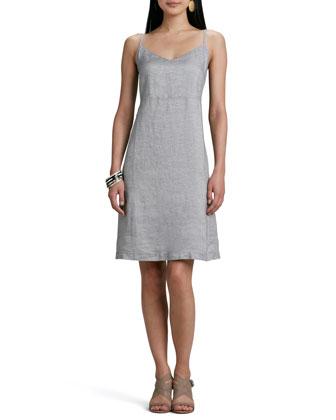 Twinkle Linen Slip-Dress, Petite