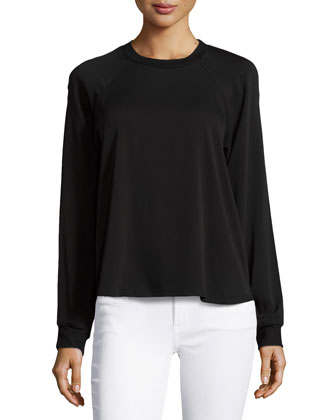 Randy Long-Sleeve Top, Black