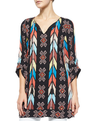 Kamaya Embroidered Long Tunic, Women's