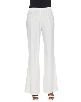 Stretch-Knit Wide-Leg Pants, Women's