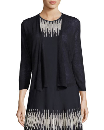 4-Way Linen-Blend Knit Cardigan, Women's