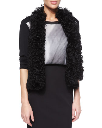 Brooke Curly Shearling Fur Vest