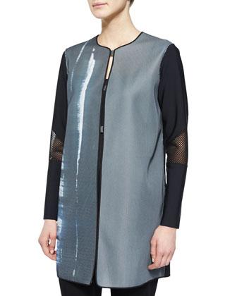 Melody Mesh-Sleeve Coat