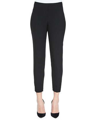 Marcia Straight-Leg Pants, Black