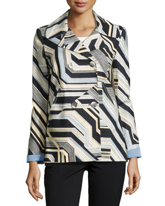 Double-Breasted Jacket, Multi Colors